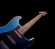 Blue Electric Guitar Musical Royalty Free Stock Images