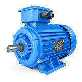 Blue electric industrial motor Royalty Free Stock Images