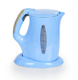 Blue electric kettle royalty free stock photos