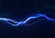 Blue electric lighting stock photography