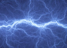 Blue electric lighting Stock Photo