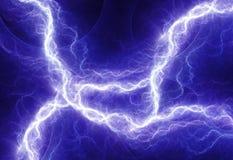 Blue electric lightning Stock Image
