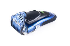 Blue electric shaver Royalty Free Stock Photography