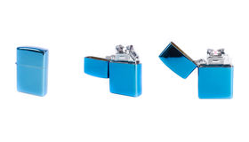 Blue electrical lighter Royalty Free Stock Photos