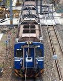 Blue Electrified Train Royalty Free Stock Photos