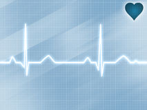 Blue electrocardiogram track Royalty Free Stock Photos