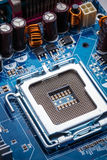 Blue electronic circuit board Royalty Free Stock Photography
