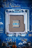 Blue electronic circuit board Royalty Free Stock Image