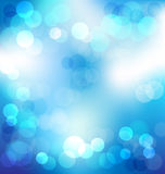 Blue elegant abstract background with bokeh lights Royalty Free Stock Image