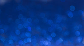 Blue elegant abstract bokeh background Royalty Free Stock Photos