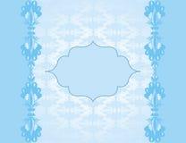 Blue elegant card Stock Image