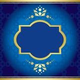 Blue elegant card with golden decor - vector Stock Photos