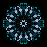Blue elegant circular symmetry. Vector blue elegant circular symmetry Royalty Free Stock Photos