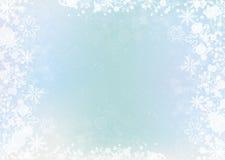 Free Blue Elegant Winter Background With Snowflake Border Royalty Free Stock Photography - 81890147