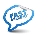 Blue  element bubble fast delivery Stock Image
