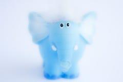 Blue elephant. On the light background Royalty Free Stock Images