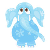 Blue elephant Stock Images
