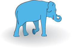 Blue elephant Stock Image