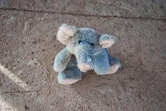 Blue Elephant. Close up of a blue elephant puppet Stock Image
