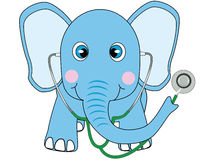 Blue elephant doctor Stock Photo