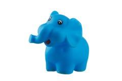 Blue elephant isolated on white. Background Stock Photography