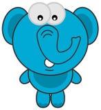 A blue elephant standing Stock Photos