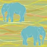 Blue elephant Stock Photography