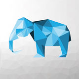 Blue elephant with triangles Stock Photography