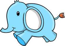 Blue Elephant vector Royalty Free Stock Images