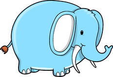 Blue Elephant vector Stock Images