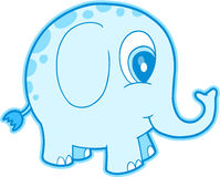 Blue Elephant Vector Royalty Free Stock Image