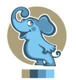 Blue elephant Royalty Free Stock Photos