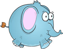 Blue Elephant Vector Stock Image