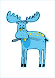 Blue elk Stock Photography
