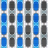 Blue ellipse seamless pattern Stock Photo