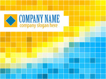 Blue and ellow template Royalty Free Stock Images