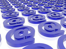 Blue email background. Blue email  isolated in white background Royalty Free Stock Photo