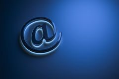 Blue email sign. 3d rendering of a blue email sign Royalty Free Stock Images