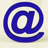 Blue Email Sign Representing Internet Mail Royalty Free Stock Photo