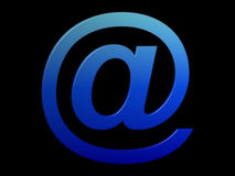 Blue @ (email symbol) Stock Images