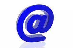 Blue email symbol Stock Photo