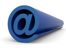 Blue email symbol. Email symbol on a white background Royalty Free Stock Photos