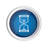 blue emblem mouse hourglass cursor icon Royalty Free Stock Image