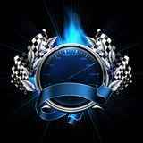 Blue Emblem Races Royalty Free Stock Photo