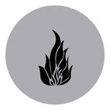 Blue emblem sticker fire icon. Illustraction design image Stock Photography