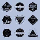 Blue emblems Stock Image