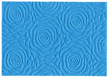 Blue embossed paper Stock Photography