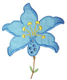 Blue Embroidery Flower Royalty Free Stock Images