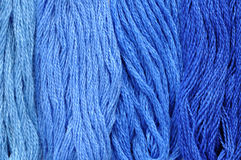 Blue Embroidery Thread Stock Photo