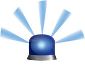Blue Emergency Police Flashing Light Stock Photo